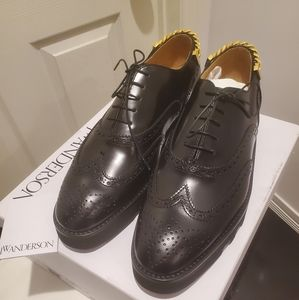 Chain Derby Shoes with Thick Rubber Out Sole
